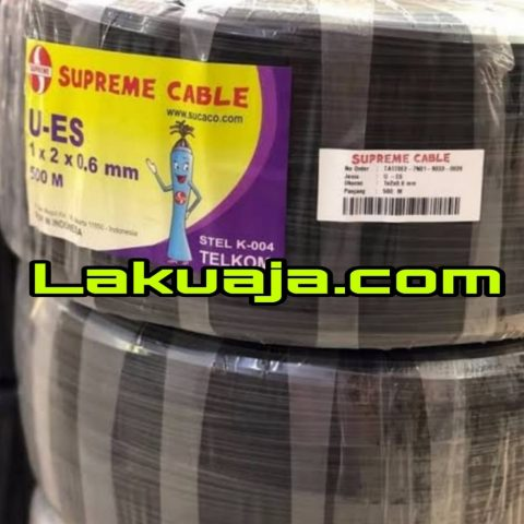 kabel-telepon-supreme-drop-wire-1-pair-x-2-x-0.6mm-stel-k-004-u-es